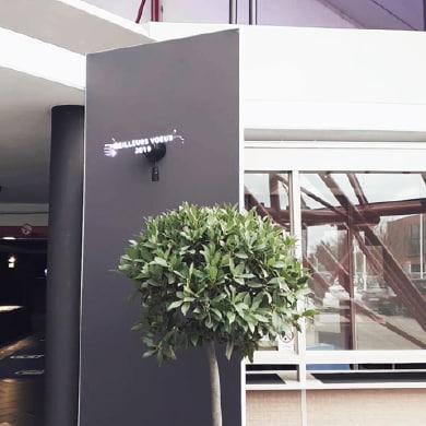 Prestation projecteur holographique 3D sur cloison pour la CCI