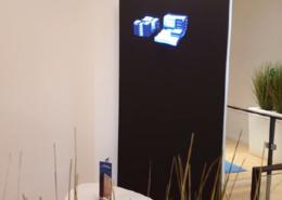 Animation innovante par hélice holographique sur cloison mobile pour Celeste