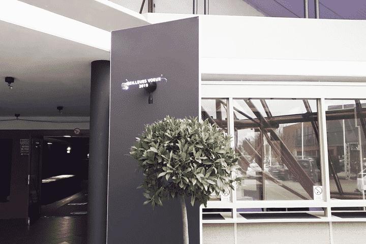 Diffusion hélice hologramme 3D pour cérémonie de Vœux CCI