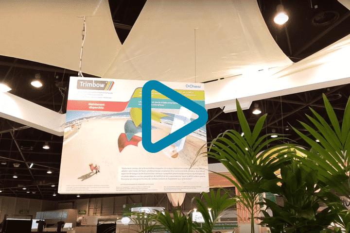 Vidéo réalisation fresque holographique pour Chiesi via projecteur 3D flottant