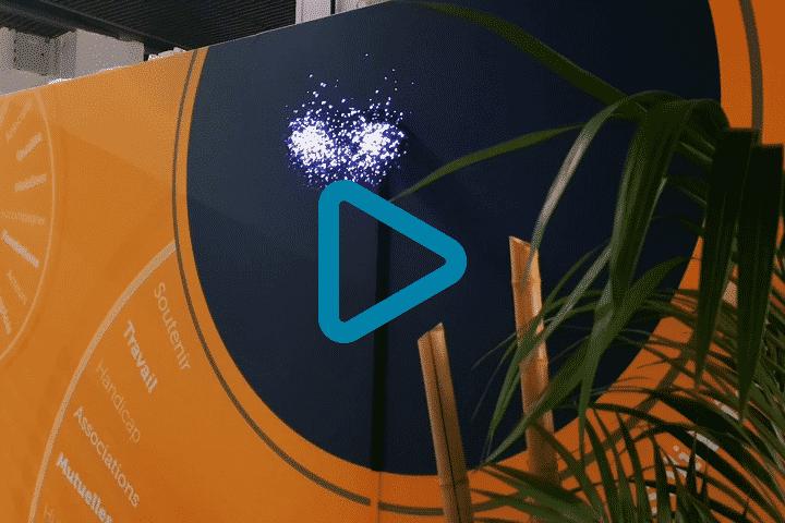 Vidéo prestation ventilateur holographique 3D pour Chorum Mutuelle