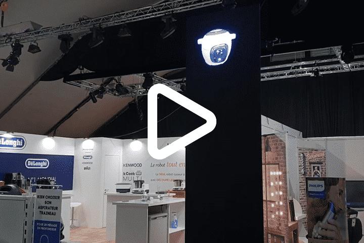 Aftermovie Conforama avec installation hélice hologramme 3D sur cloison haute