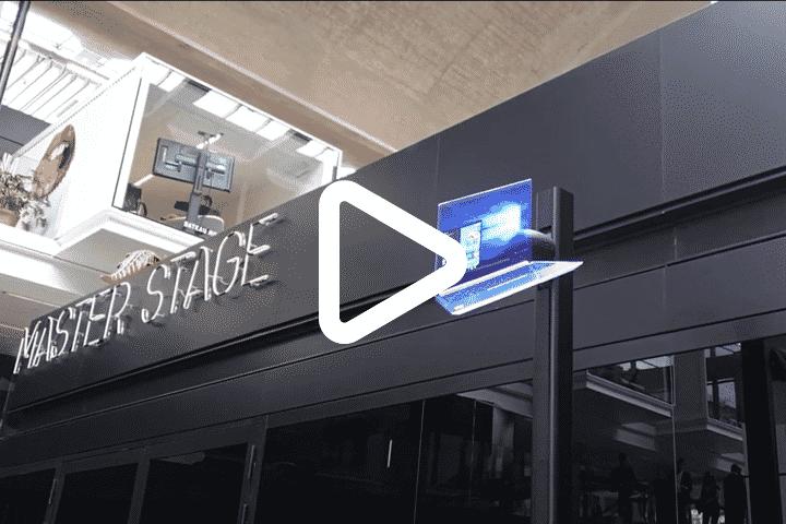 Vidéo installation animation innovante via hélice holographique 3D pour Lenovo