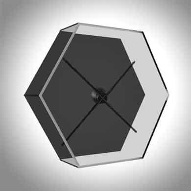 Location cloche de protection hexagonale en acrylique pour projecteur holographique 3D